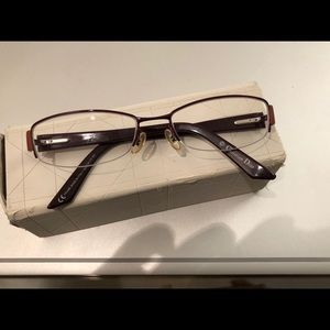 Christian Dior semi rimless rectangular eyeglasses